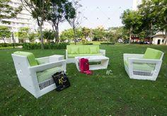 Poly rattan sofa set RASF-037