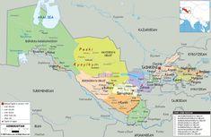 Map of Uzbekistan and Uzbekistan Political Map