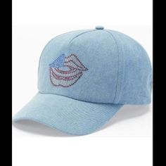 ⬇️REDUCED⬇️Juicy Couture Rhinestone Hat This baseball hat by Juicy Couture features rhinestone accents to form a lips design. In blue. PRODUCT FEATURES Denim construction Rhinestone accents Lips design Patriotic colors Adjustable snap back closure FABRIC & CARE Fabric Spot clean Imported. Juicy Couture Accessories Hats