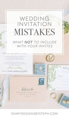 Avoid these wedding invitation mistakes - here's what not to include in your invitation wording!