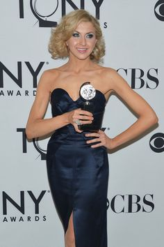 Nina Arianda, Best Performance by a Leading Actress in a Play for Venus in Fur poses in the press room at the 66th Annual Tony Awards at The Beacon Theatre on June 10, 2012 in New York City. GET. IT.