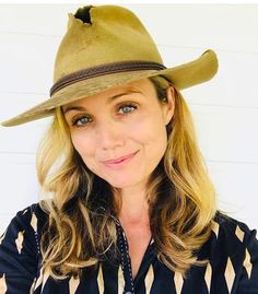 """Bridie'll be wearing Jack's/her hat for the """"Beach to Bush"""" cattle drive this coming Saturday at on the South end of Bondi in Sydney. Mcleod's Daughters, Yesterday And Today, Actors & Actresses, Tv Shows, How To Wear, Cattle Drive, Sydney, Jade, Films"""