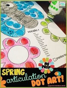 Spring Dot Art {No Prep! All sounds} Make a Spring articulation masterpiece and get tons of productions at the same time!