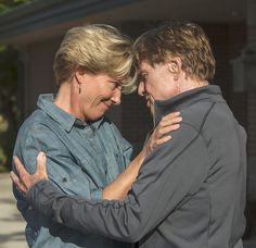 "Robert Redford y Emma Thompson en ""Un paseo por el bosque"" (A walk in the woods), 2015"