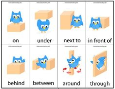 Motor Skills Preposition Game | Totschooling - Toddler and Preschool Educational Printable Activities