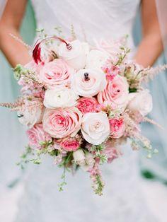 roze trouwboeket