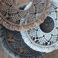Macrame Mandala Wall Hanging Lovingly hand crafted by SueVcreative