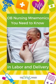 OB Nursing Mnemonics You Need to Know in Labor and Delivery. OB Nursing Mnemonics You Need to Know in Labor and Delivery. Newborn Nursing, Ob Nursing, Postpartum Nursing, College Nursing, Nursing Pins, Nursing Career, Maternity Nursing, Nursing Classes, Nursing School Notes