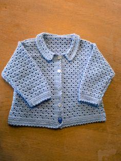 DIY - hæklet baby trøje