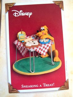 SNEAKING A TREAT! PLUTO,Yr 2004 Hallmark Ornament,WALT DISNEY Hallmark Disney Ornaments, Hallmark Holidays, Hallmark Keepsake Ornaments, Christmas Holidays, Christmas Ornaments, Disney Couples, Walt Disney, Holiday Traditions, Favorite Holiday