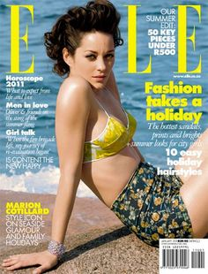 Marion Cotillard is my current style icon.  l love this swimsuit!