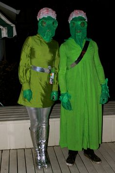 This is our Alien costumes I made!