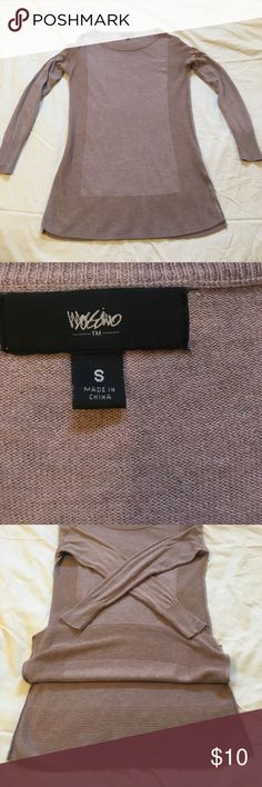 Long Tunic/Sweater, Blush, Small Mossimo Dark Blush color. Soft and thinner than most sweaters. Two, short, side slits. Tiny hole on the top, backside of the left arm. Mossimo Supply Co Sweaters Crew & Scoop Necks