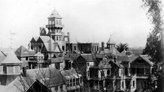 The Haunting History of the Winchester Mystery House - painters of Kentuckiana of Louisville American Horror Story Theme, Winchester Mystery House, American Mansions, House Painter, Secret Rooms, Horror Stories, Movie Quotes, History, Ahs
