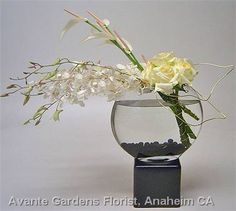 Contemporary White Flower Arrangement