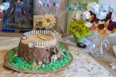 Cake at a Fairy Garden Party #fairy #partycake