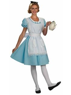 Alice Costume | Wholesale Alice in Wonderland Costumes for Women Take off apron and add ribbon sash belt, and this'll work for The Shining Twins costume, I think.