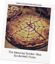 The Amazing Spider-Man / Spiderweb Pizza - With great pizza, comes great cheese.