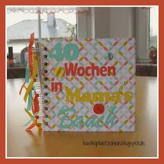 Laura´s Bastelplätzchen: 40 Wochen in Mama´s Bauch - Album Mini Albums, Paper, Projects, Creative, Gifts, Crafting, Pregnancy, Extended Play, Mini Scrapbooks