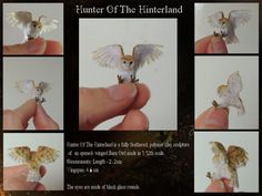 Anya Stone makes 1/12 scale miniature animals from polymer clay, and uses fiber and feathers to recreate the look of fur and feathers through flocking. Tutorials available at her site