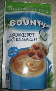 FOODSTUFF FINDS: Bounty Coconut Hot Chocolate (Waitrose) Review