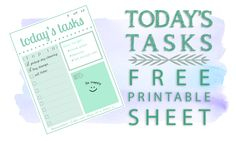 Keep focused and organized with this free printable sheet! Download and print as many times as you like.