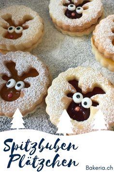 Spitzbuben Geheimrezept – The Best Christmas Cookies Xmas Food, Christmas Cooking, Christmas Desserts, Christmas Treats, Baking Recipes, Cookie Recipes, Christmas Biscuits, Cranberry Cookies, Xmas Cookies