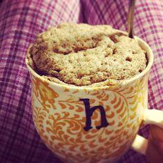 xohappyhealthyfoodie: Banana bread in a mug whole 30 and paleo compliant
