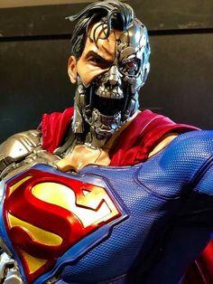 Cvlt of the Pop Cvlture — Cyborg Superman scale statue by Prime 1 Studio. Comic Book Characters, Marvel Characters, Marvel Dc, Marvel Comics, Chibi, Superman Wallpaper, Univers Dc, Game Character Design, Batman Vs Superman