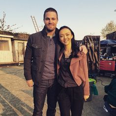 "152.5k Likes, 1,577 Comments - Stephen Amell (@stephenamell) on Instagram: ""Such a nice way to spend my last day. Always lovely working with @rila_fukushima --"""