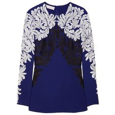 Stella McCartney Mietta embroidered crepe top ❤ liked on Polyvore