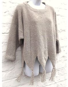 Machine knitting PDF pattern. Boxy Sweater in chenille. Baggy style up to 54 inch bust. $6.00, via Etsy.