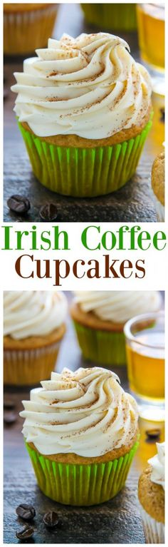 Supremely moist Irish coffee cupcakes topped with boozy buttercream! This one is for adults only. YUM.