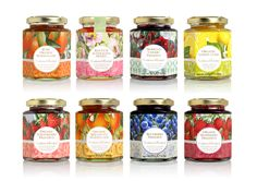 Crabtree & Evelyn Food Range on Packaging Design Served Spices Packaging, Fruit Packaging, Food Packaging Design, Bottle Packaging, Brand Packaging, Coffee Packaging, Food Design, Jar Design, Bottle Design