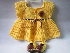 Crochet little girl dress...free pattern