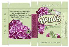 How to make custom Nerds wedding favors