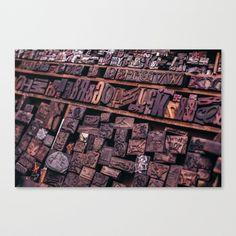 Wood Letterpress Canvas Print by Alessandro Bonini   Society6