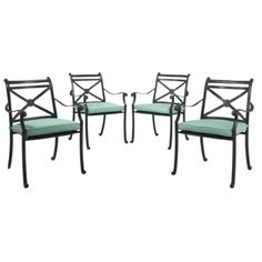 Smith & Hawken® Edinborough 4-Piece Metal Patio Dining Chair Set -$374 for four chairs... also a two piece set available; Target.