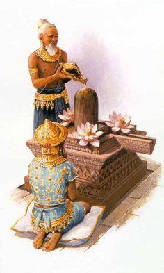 "Shiva Linga: the symbol of the creative potency of God. --- Angkorwat ""This architectural work perhaps has not, and p. Shiva Art, Hindu Art, Cambodian Art, Shiva Linga, Dope Cartoon Art, Shiva Statue, Thai Art, Ancient Art, Ancient History"
