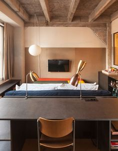 A guest room at the new Ace Hotel in downtown Los Angeles