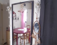 #home #deco #decoration #mirror #dreamcatcher #pink #kitchen #livingroom