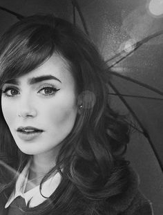 #Lily Collins #face #beauty