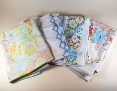 coordinating vintage pillowcases - 100% cotton