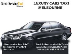 Silverservice24x7 Taxi Melbourne provides Best Cab Service in Melbourne. If you want to travel with Luxury then Book your cabs with Silverservice24x7 by Book@silverservice24x7.com we will provide Luxury Cabs Service Melbourne. Visit our site www.silverservice24x7.com and Call us at +61 452 622 391