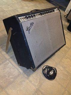Vintage 1974 Silverface Fender Twin Reverb amp Altec 417 speakers all original!