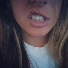 Group of: Smiley piercing | via Tumblr | We Heart It