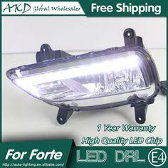 155.00$  Buy now - http://alis9t.worldwells.pw/go.php?t=32644666725 - AKD Car Styling for Kia Forte DRL 2012-2014 Forte LED DRL LED Running Light Fog Light Parking Accessories 155.00$