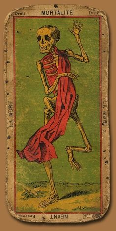 Death Tarot Card.  A Major Arcana card, it portends the death of old ways & old habits. A spiritual death, which will clear the path for new ways, and new life lessons.  It can also portend the death of someone or something, if that is the question that has been asked.