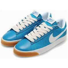 buy online 15d44 eae28 Nike Blazer Low Shoes Blue White Women
