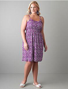 plus size sundresses | Plus size Ruffled batik sundress | My Style | Dress Up